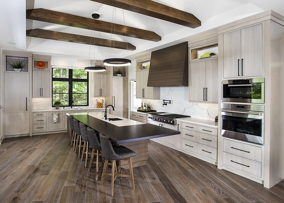 Modern prairie style on the thornapple river trukitchens for Prairie style kitchen design